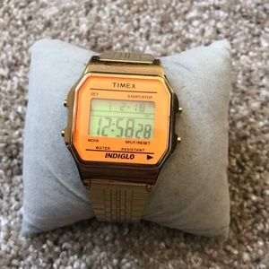 Watch Timex Indiglo, Color: Gold & Orange